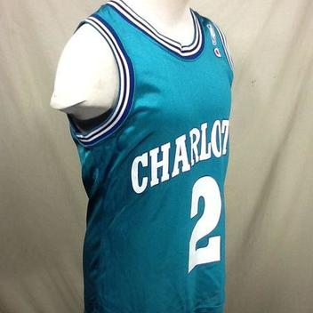 VINTAGE CHAMPION CHARLOTTE HORNETS (40 SMALL) LARRY JOHNSON  2 GRAPHIC NBA  BASKETBALL JERSEY. Comments (0) Favorites (3) 9b9962b57
