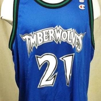 9a5900a7bc1 VINTAGE CHAMPION KEVIN GARNETT MINNESOTA TIMBERWOLVES (XL) NBA BASKETBALL  JERSEY