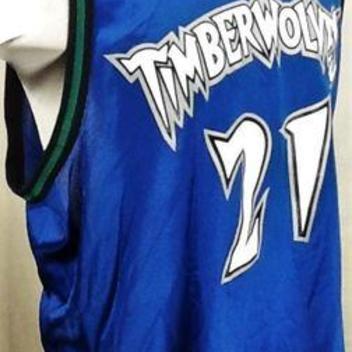 09a5d96a88b VINTAGE CHAMPION KEVIN GARNETT MINNESOTA TIMBERWOLVES (XL) GRAPHIC NBA  BASKETBALL JERSEY