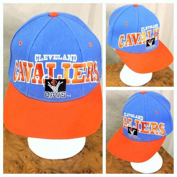 VINTAGE 90 S STARTER CLEVELAND CAVELIERS NBA 100% WOOL RETRO SNAP BACK HAT   ded0588544a