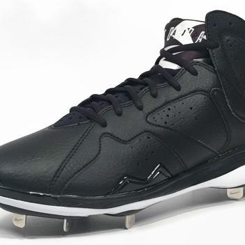 f3c3c10bb649 New Nike Air Jordan 7 VII Retro Metal Men s Cleats sz 14 Black White ...