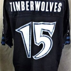 06a07c4aa06 2003 REEBOK MINNESOTA TIMBERWOLVES  15 (XL LONG) RETRO GRAPHIC NBA FOOTBALL  STYLE JERSEY. Related Items