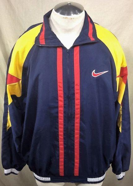 7555ebe5b1 Nike VINTAGE 90 S ACTIVE WEAR (XL) RETRO HIP-HOP STREETWEAR WINDBREAKER  JACKET