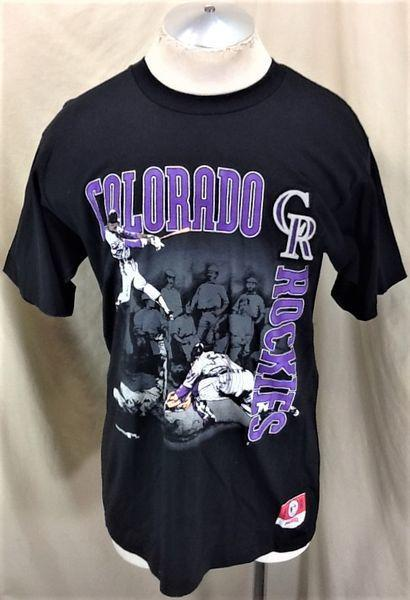 cheap for discount 7eb6f 4a7b5 VINTAGE 90'S NUTMEG COLORADO ROCKIES MLB BASEBALL (LARGE) RETRO MLB  BASEBALL GRAPHIC T-SHIRT