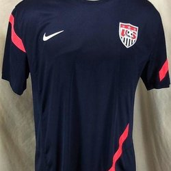 d7c78dc46 AUTHENTIC NIKE TEAM USA FUTBOL (LARGE) DRI-FIT WORLD CUP SOCCER JERSEY
