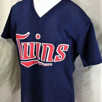 745b2005890 VINTAGE 80 S MAJESTIC MINNESOTA TWINS (XL) RETRO STITCHED MLB BASEBALL  JERSEY. Related Items