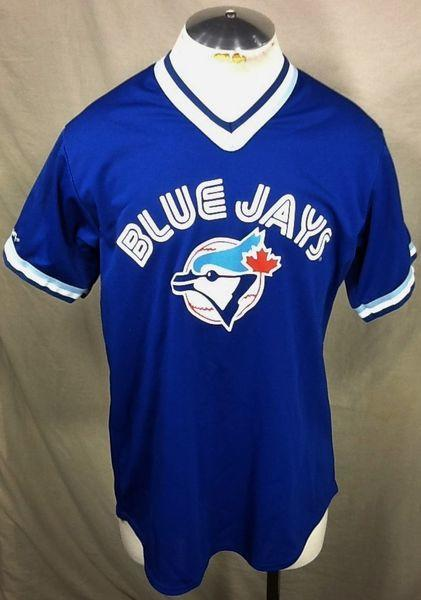 310cda4a8 MAJESTIC TORONTO BLUE JAYS LARGE MLB BASEBALL GRAPHIC JERSEY T-SHIRT.  Related Items