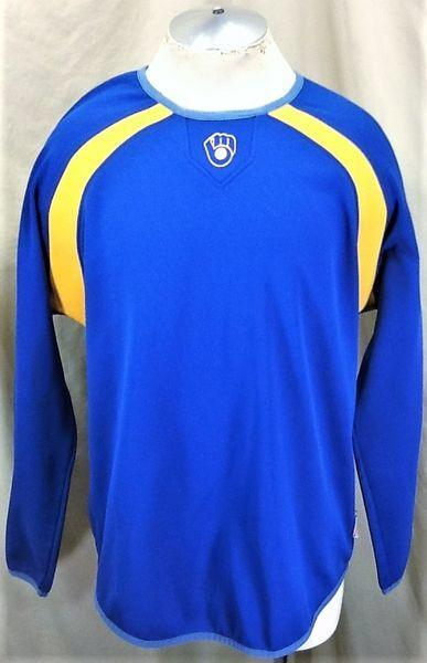 baa12a5d5 MAJESTIC COOPERSTOWN COLLECTION MILWAUKEE BREWERS (XL) PULLOVER GRAPHIC BATTING  PRACTICE SWEATSHIRT