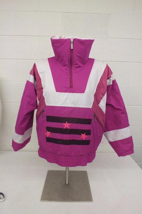 HEAD Vintage Sportswear Fully Insulated Pink Patterned Ski Jacket Stunning Patterned Ski Jackets