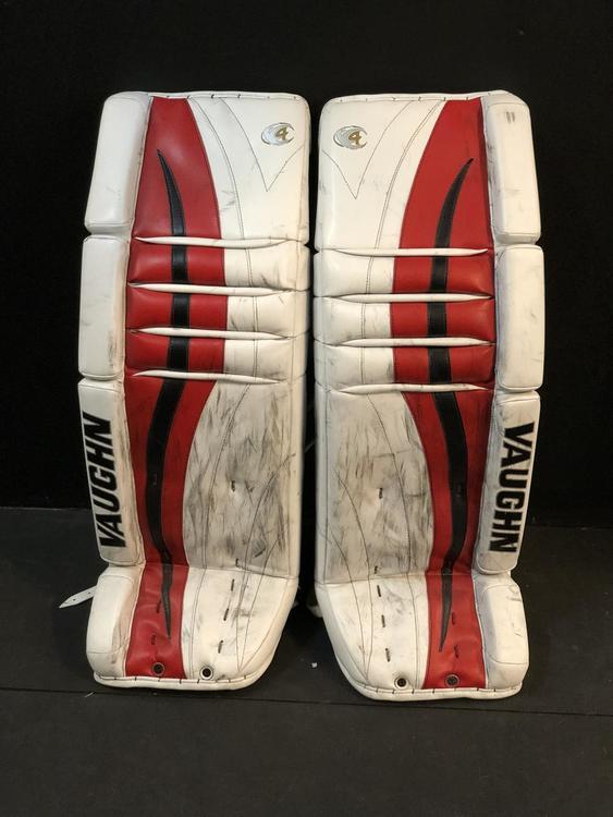 NHL Pro Stock New Jersey Devils Scott Wedgewood Vaughn V4 Goalie Leg Pads -  SOLD 2029a3015c0
