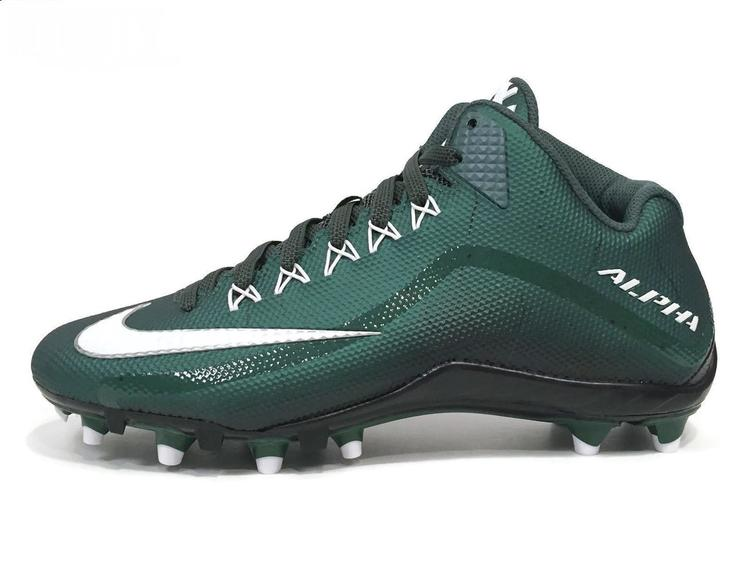 650e9c101 Nike New Alpha Pro 2 TD 3 4 Mid Men s Cleats sz 10 Deep Forest Green White  Black 719927-310