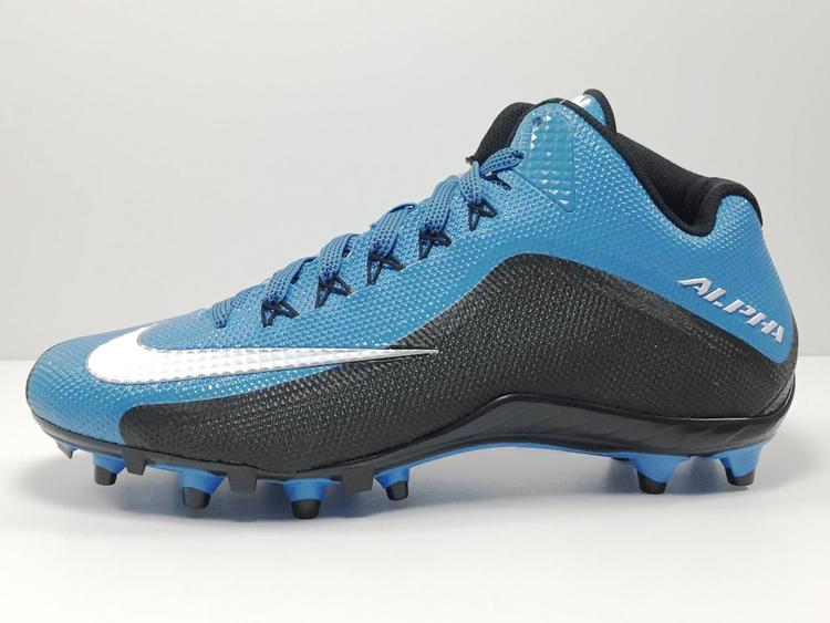 110a4842d Nike New Alpha Pro 2 TD 3 4 Mid Men s Cleats sz 11 Cyan Blue White Black  729444-405