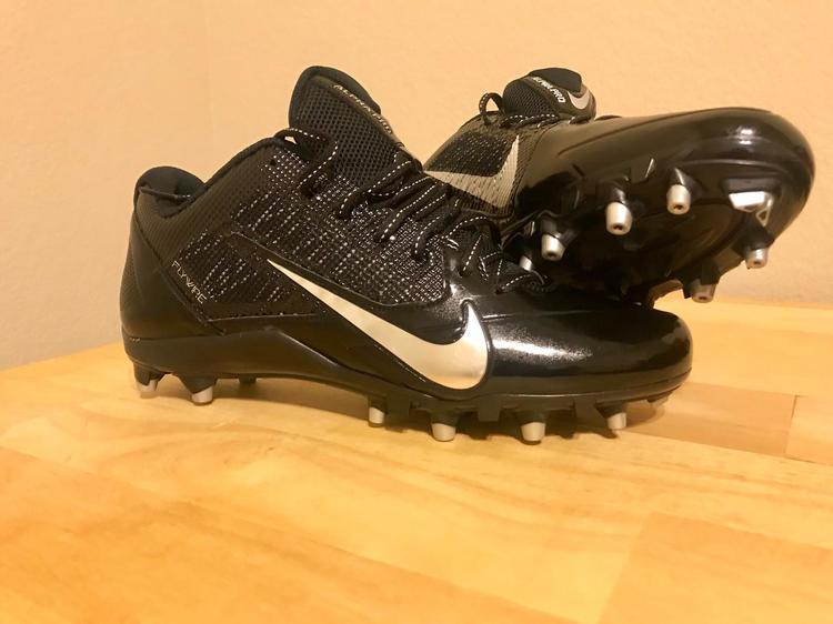 the best attitude 1debb 62475 NEW Nike Men s Alpha Pro TD Low Black w  Chrome Football Cleats (Size 11.5)