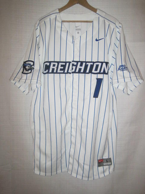 af260ec8bc4 Nike Creighton Bluejays Authentic Jersey men s L white pinstripe NWOT