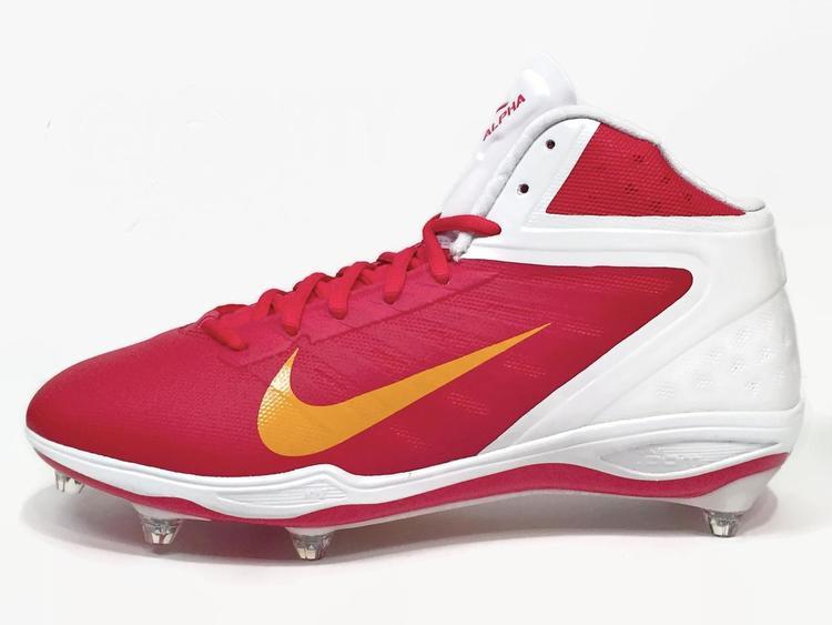online store a3ba8 47c18 Nike New Alpha Talon Elite D Men s Cleats sz 11.5 White Red Yellow NFL  Chiefs 544327-616   PRICE DROP   Football Footwear   SidelineSwap