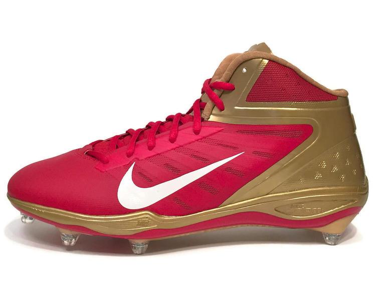 quality design e3664 771c6 Nike New Alpha Talon Elite D Men s Cleats sz 13 Red Gold NFL San Francisco  49ers 544327-628   Football Footwear   SidelineSwap