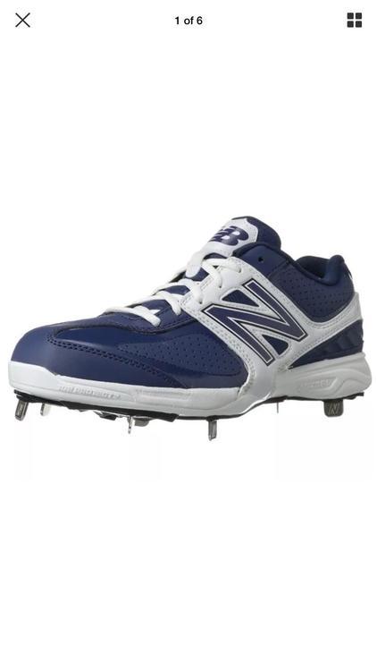 fdea6c49222 New Balance Men Athletic Shoes MB4040CB Low Cut Metal Cleats Navy 16 ...