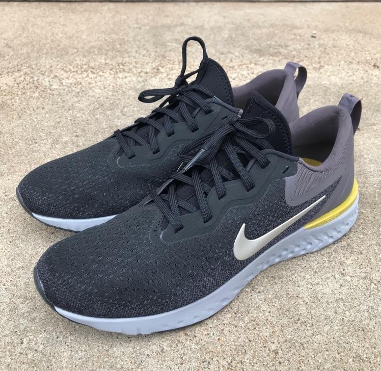 72bcb3dbefdfb Nike Odyssey React Men Running Shoes Black Metallic Pewter Thunder Grey Sz  10.5