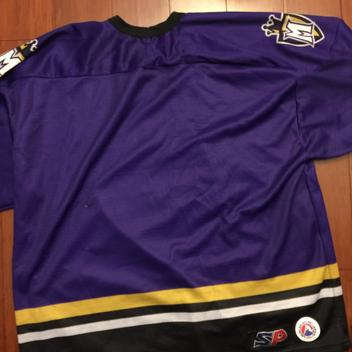 cfbcde7b749 Manchester Monarchs jersey Old Team colors Purple and Gold
