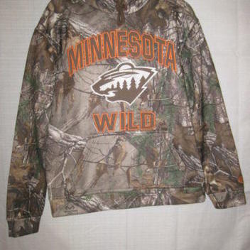 Minnesota Wild Hockey Realtree X-Tra camo sweatshirt hoodie S hunting brown  NEW - NEW LISTING 852153d2e9b