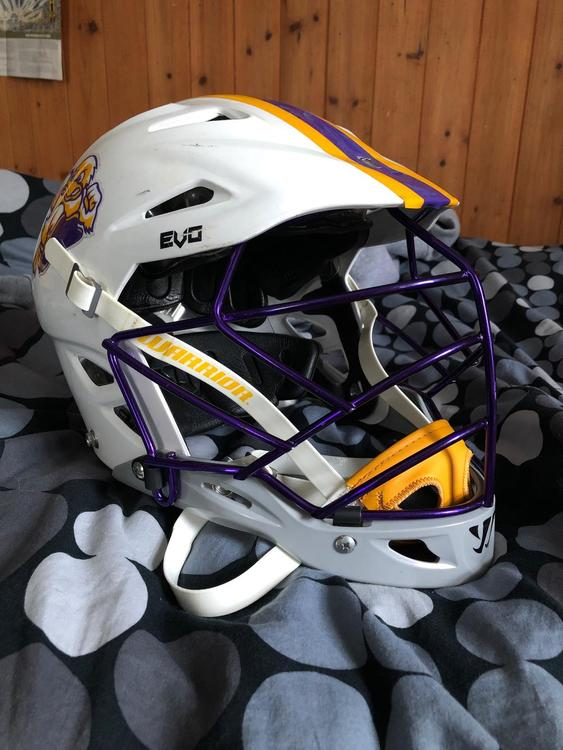 Warrior Evo Helmet Purple White Need Gone Expired