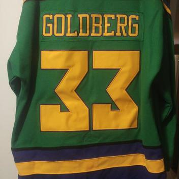 Mighty Ducks Vintage Goldberg movie throwback jersey Barely Worn ... dd7415a25