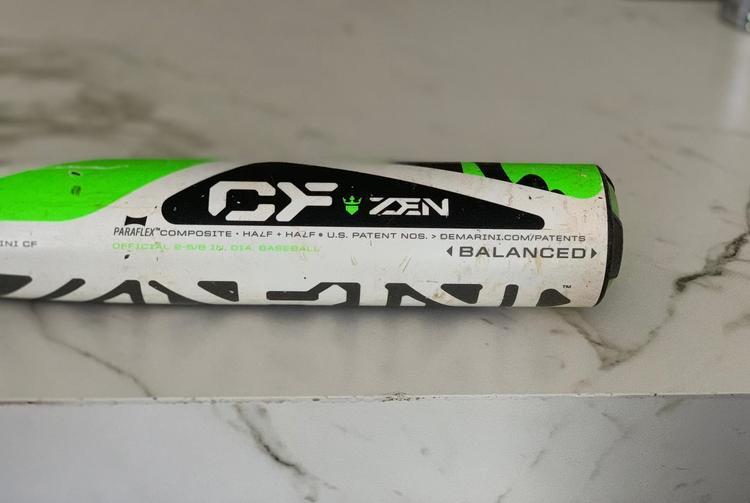 Demarini CF Zen 31/26 Drop 5 With Lizard Skin Grip  2 5/8 Barrel  Amazing  Bat
