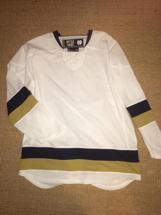 low priced eae62 f8bcd Used NCAA B1G Ten Notre Dame Fighting Irish Under Armour Uncrested Blank  Jersey White Large