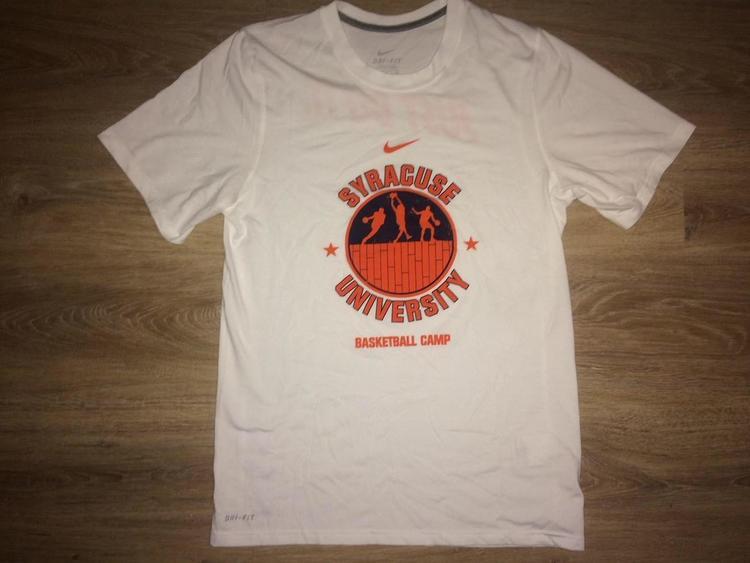 Small New Nike Syracuse Basketball Camp Dri Fit Shirt