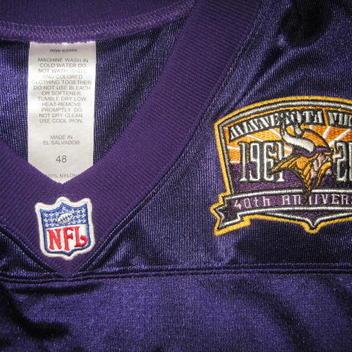 1a22ceab6 Authentic Minnesota Vikings Daunte Culpepper football jersey 48 NFL Puma