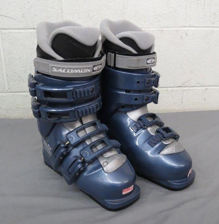 Salomon Performa 5.0 Thermic Adjustable Flex Ski Boots MDP 23.5 US Women's 6