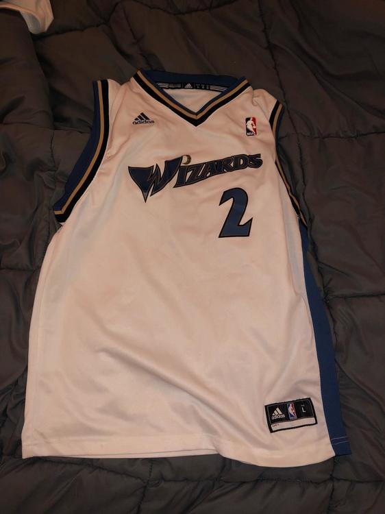 half off df1fb 0027c Throwback Wizards John Wall Jersey