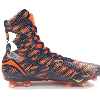5292af3db New Under Armour Highlight MC Football Cleats Mens sz 11.5 Navy Blue Orange  White 1258400-418. Related Items