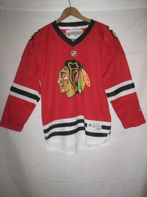 Chicago Blackhawks Reebok Jersey kids boys L XL red NHL  bf3fd0bb1