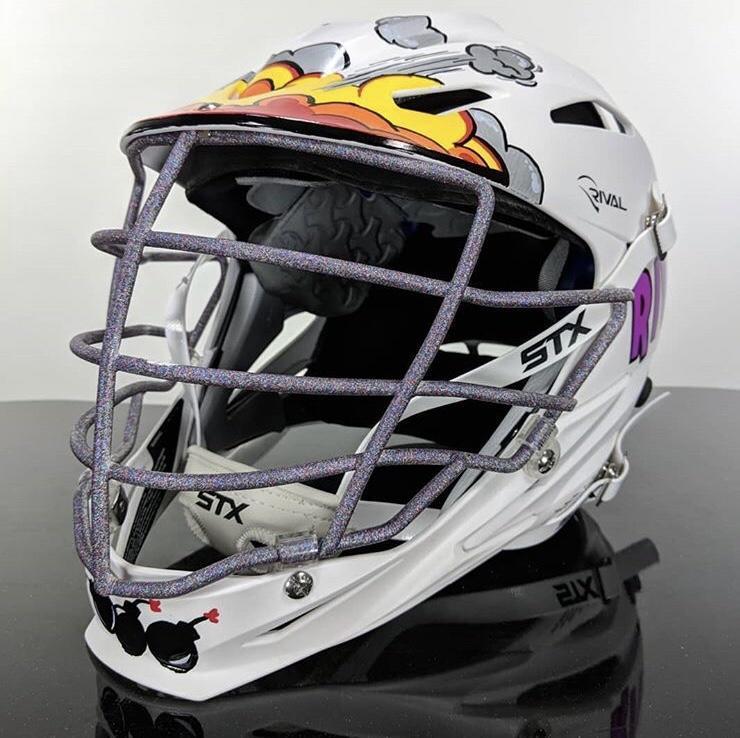Stx Brand New Rival Custom Painted Fortnite Helmet Lacrosse
