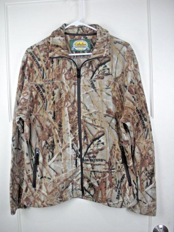a490253ca9dea Cabela's Outfitters Backwater Camo Fleece Full Zip Jacket Hunting Men's  Size: M. Related Items