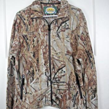 3a29c88277a45 Cabela's Outfitters Backwater Camo Fleece Full Zip Jacket Hunting Men's  Size: M