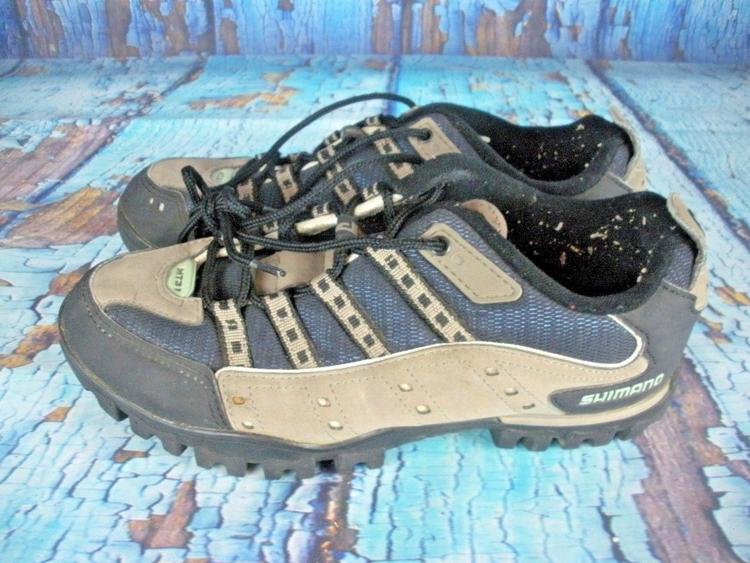 3ae69613ef950a Shimano SH-MT31 Gray/Black SPD With Cleats Cycling Shoes Mens Size 7.6 EU  41 | Bikes Footwear | SidelineSwap