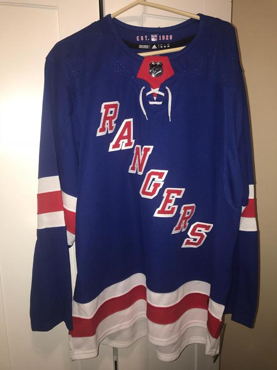 the best attitude af4b3 daf12 New AUTHENTIC 2018 adidas NHL New York RANGERS Jersey On Ice NY