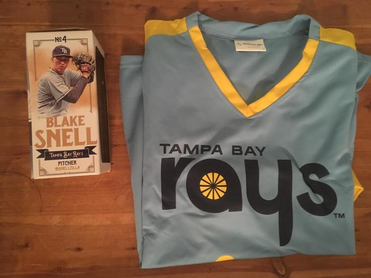 cheaper 8af84 a69dc Blake Snell Bobblehead And Throwback Jersey- Tampa Bay Rays- Brand New