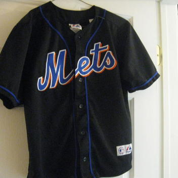 free shipping d5a70 7be7e NY METS YOUTH PEDRO MARTINEZ BLACK JERSEY(M 10/12)EMBRIODED! HALL OF FAME!