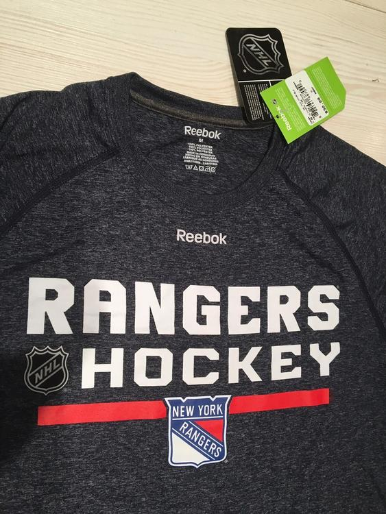 on sale d9ce9 8f822 Reebok NEW - NY Rangers Center Ice Playdry Supremium Performance T Shirt  NEW - Ships from USA!   SOLD   Hockey Apparel, Jerseys   Socks    SidelineSwap