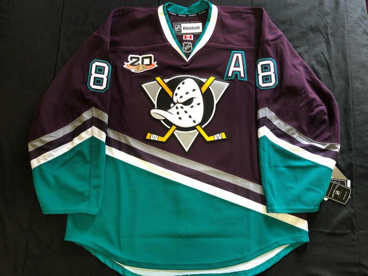 online store 3b6d4 1c0b8 Teemu Selanne Anaheim Ducks Eggplant Alternate Reebok EDGE 2.0 7287 Size 56  NWOT
