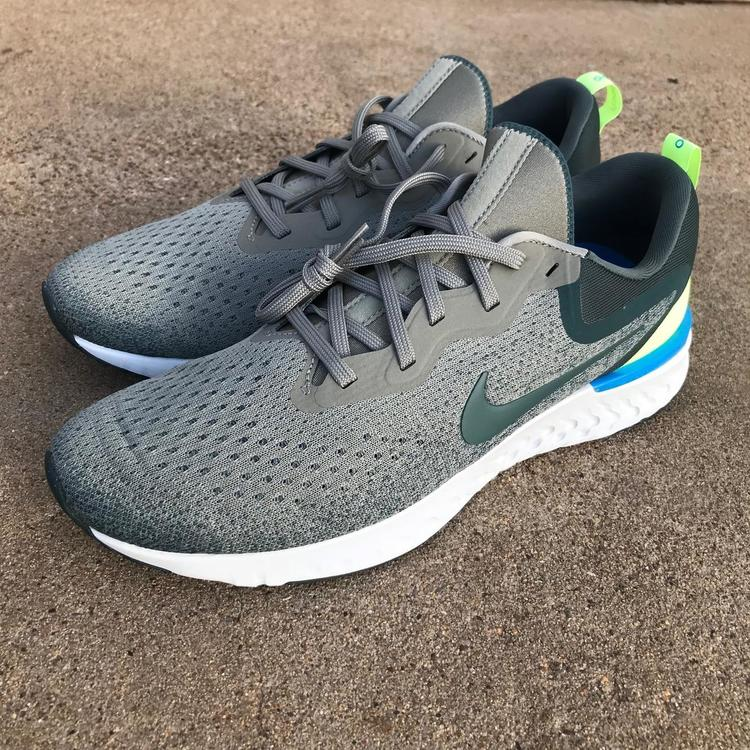 43c1ce56eb64 Nike Odyssey React Men Running Shoes Dark Stucco Lime Blast Faded Spruce Sz  10.5