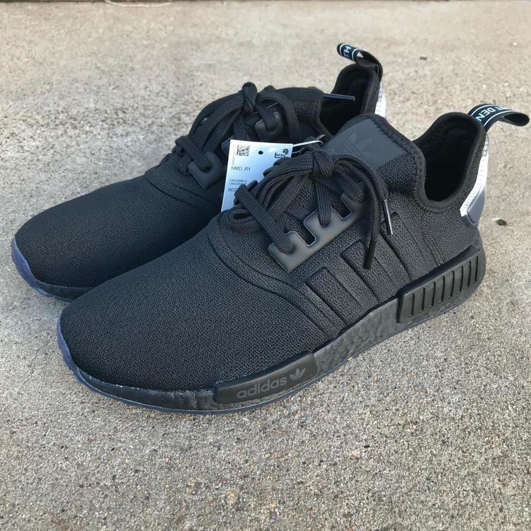 super popular 37dda 39ac6 ADIDAS ORIGINALS NMD R1 BOOST TRIPLE BLACK MEN SHOES SZ 10