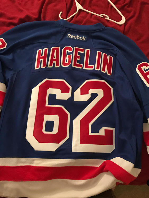 new product 76427 7a772 New York Rangers Premier Jersey (Carl Hagelin)