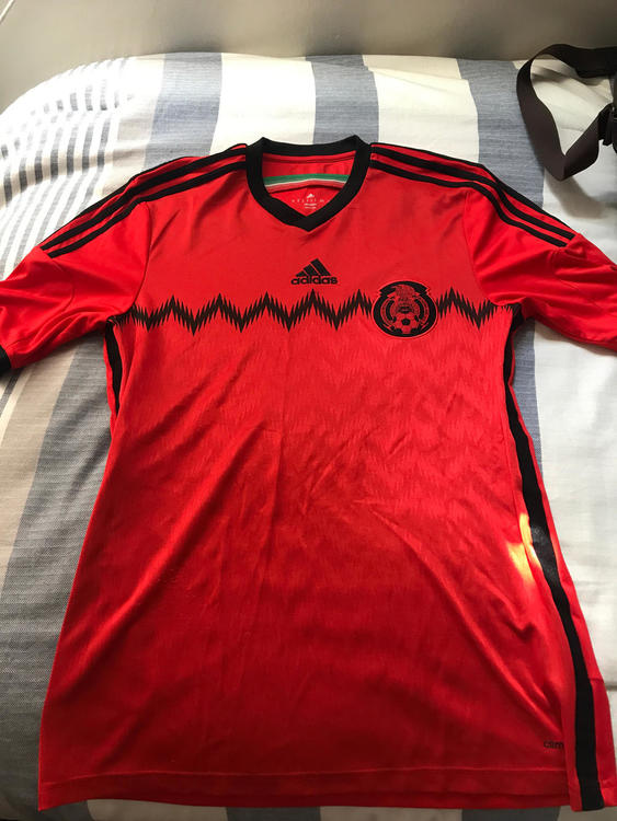 78f720fa8e6 Adidas 2014 Mexico Away Official Red Jersey