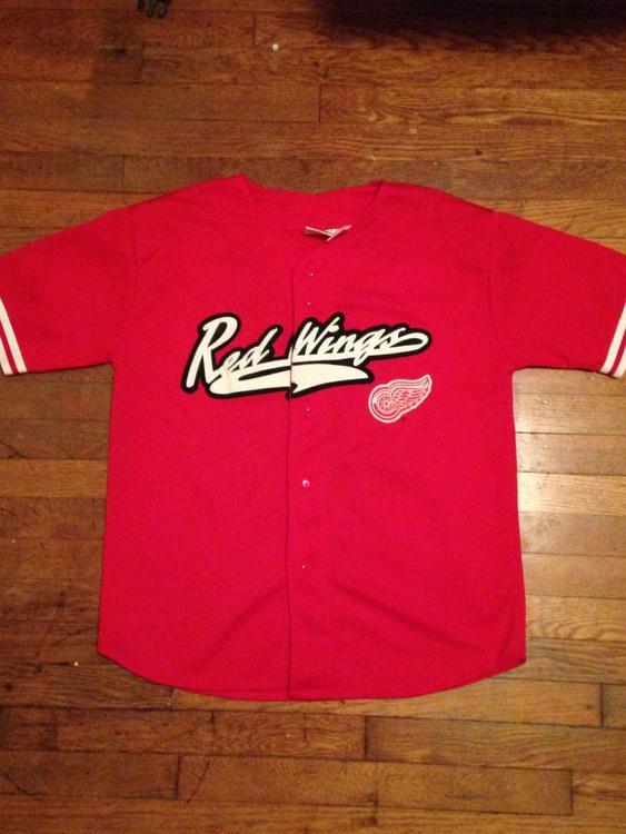 size 40 371fe 7684a detroit red wings baseball jersey