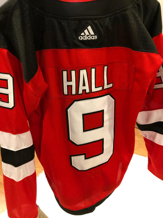 buy online c4d8c 951c3 New Jersey Devils TAYLOR HALL #9 Replica Game Jersey NEW WITH TAGS