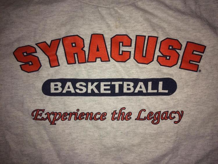 Xl Syracuse Basketball Experience The Legacy Shirt